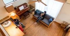 思わず友達を呼びたくなる!こだわりの作り付け家具が満載の家。