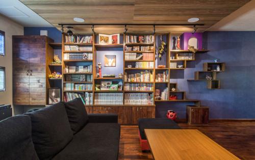 本棚に囲まれた暮らし