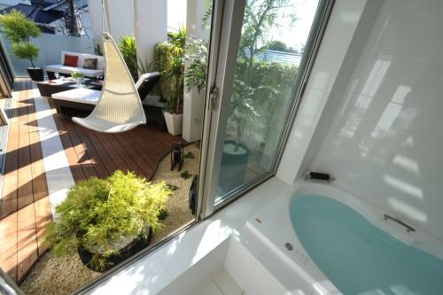 リゾート風バスルーム