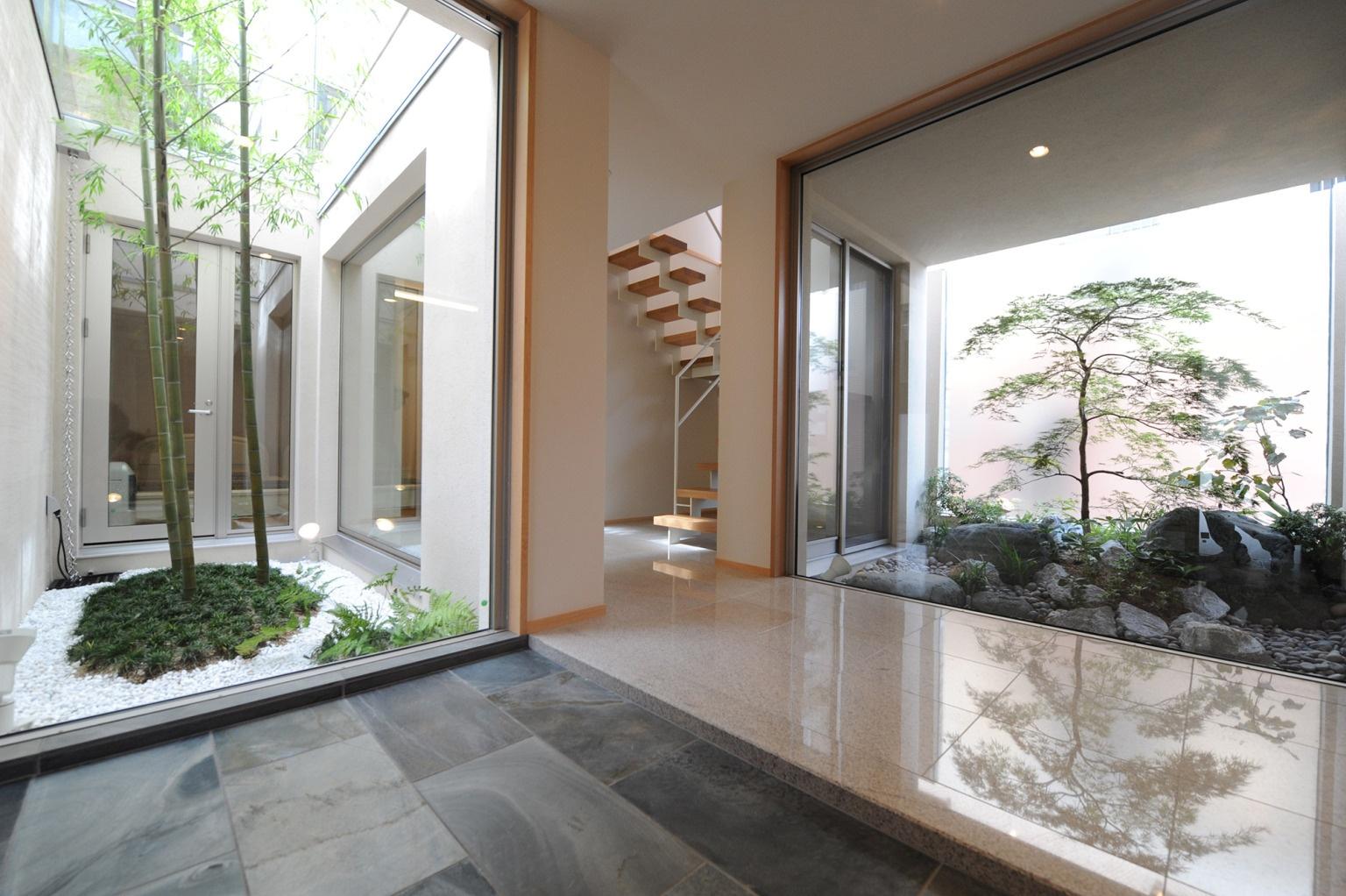 落ち着いた雰囲気のある、和の玄関空間