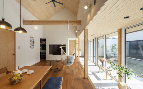 温かみのある木の家