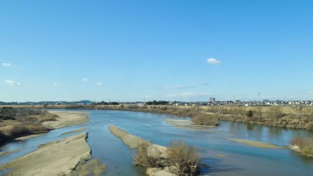 愛知県の河川風景