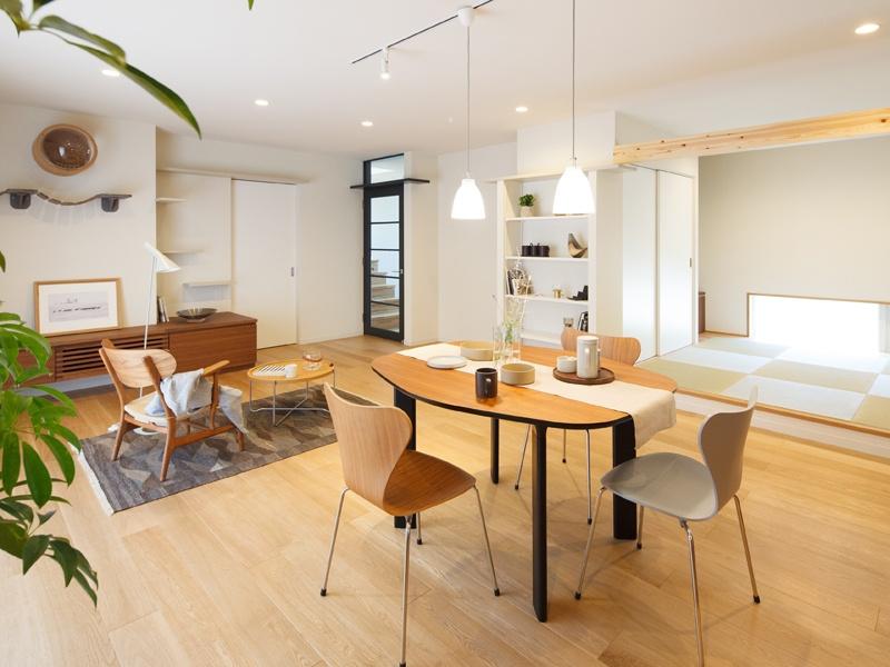 二世帯住宅の小上がりの畳スペース