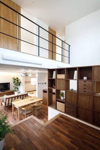 新潟のスキップフロアの住宅