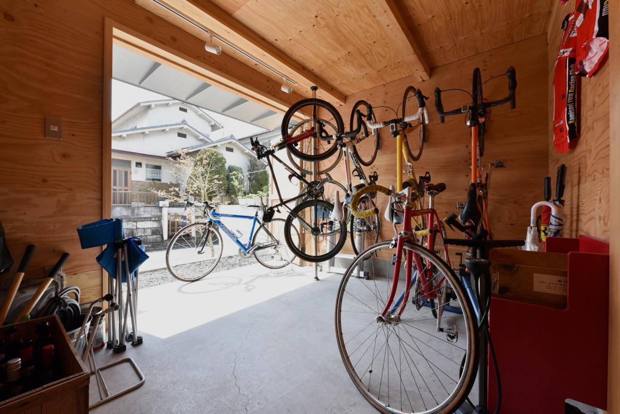 自転車も置ける土間空間