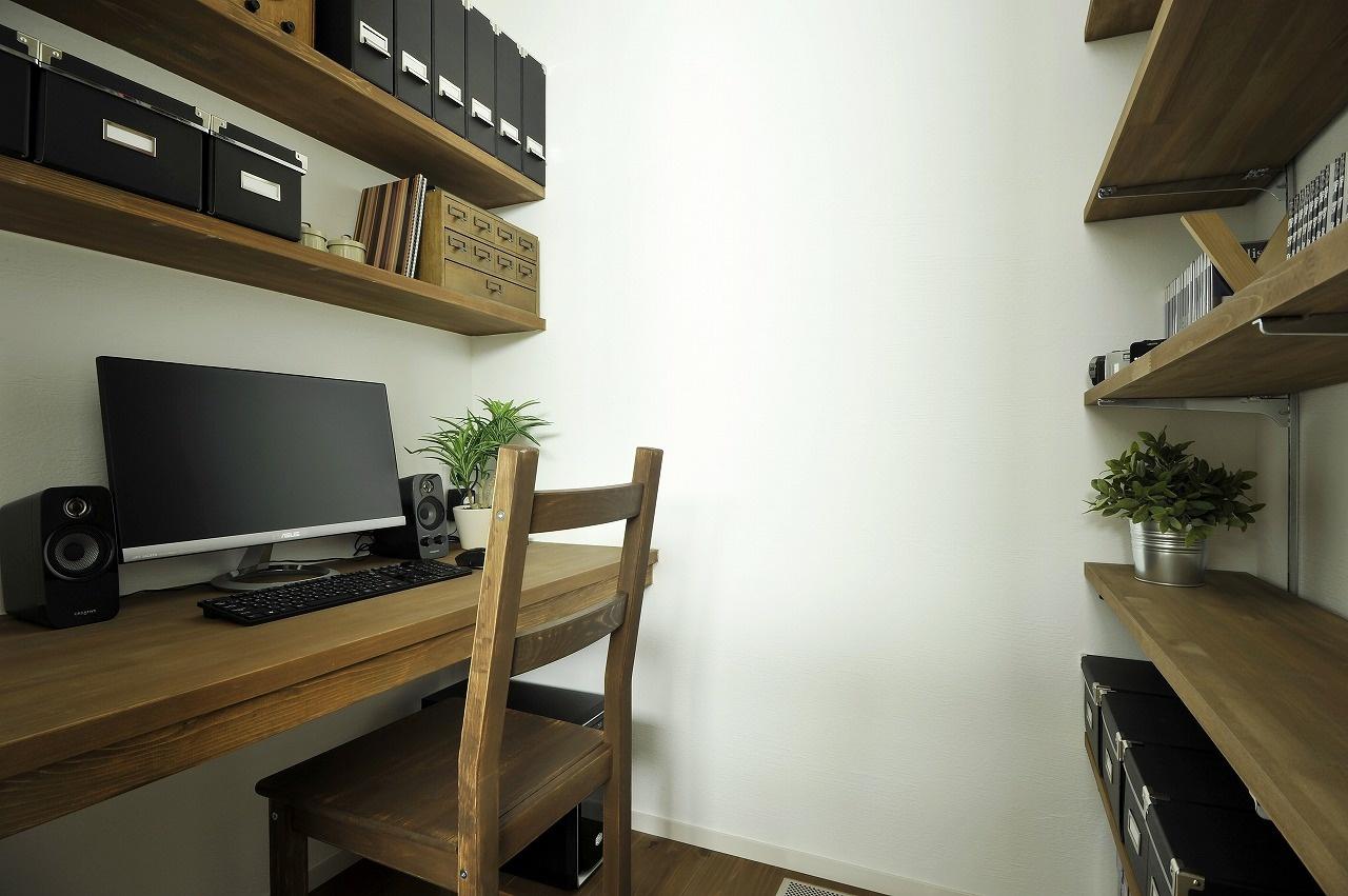 小さいけど落ち着ける書斎空間